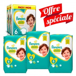 Mega Pack 217 Couches Pampers Premium Protection - New Baby taille 6