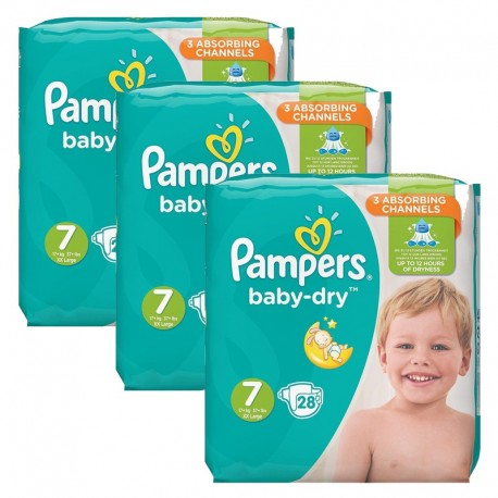 Pack 84 Couches Pampers Baby Dry taille 7 sur 123 Couches