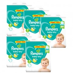 Maxi Giga Pack 168 Couches Pampers Baby Dry taille 7 sur 123 Couches
