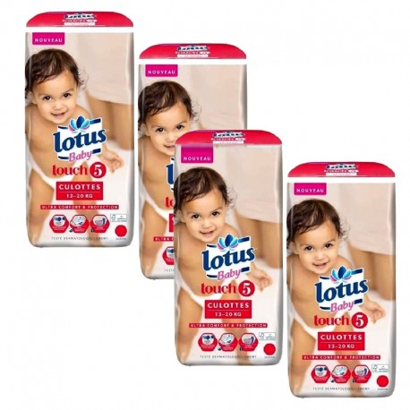 Mega Pack 144 couches Lotus Baby Touch sur 123 Couches