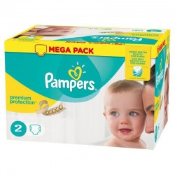 Pack 240 Couches Pampers New Baby - Premium Protection taille 2