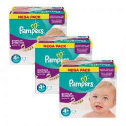 Mega Pack 186 Couches Pampers Active Fit taille 4+
