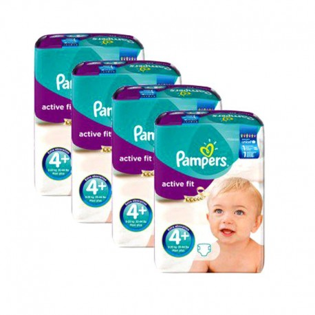 Giga Pack 248 Couches Pampers Active Fit taille 4+ sur 123 Couches