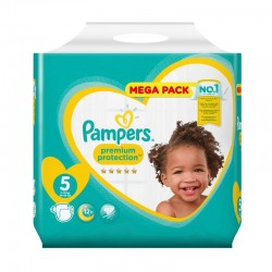 Pack 35 Couches Pampers New Baby taille 5 sur 123 Couches