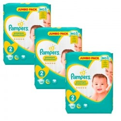 Giga Pack 204 Couches Pampers New Baby Premium Protection taille 2 sur 123 Couches