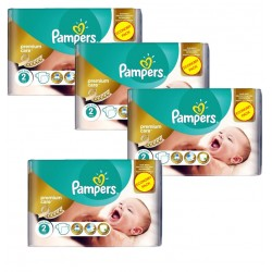 Giga Pack 266 Couches Pampers New Baby Premium Care taille 2 sur 123 Couches
