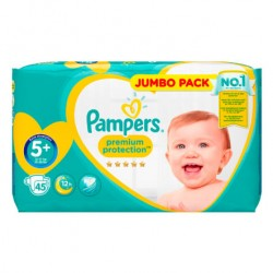 Pack 45 Couches Pampers New Baby taille 5+