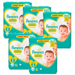 Maxi Pack 340 Couches Pampers New Baby Premium Protection taille 2 sur 123 Couches