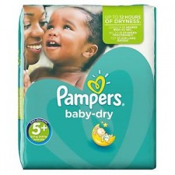 Pack 41 Couches Pampers Baby Dry taille 5+ sur 123 Couches