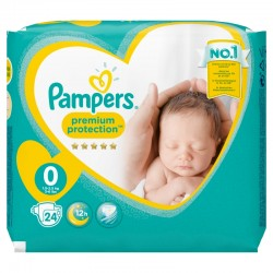 Pack 24 Couches Pampers New Baby Premium Protection taille 0 sur 123 Couches