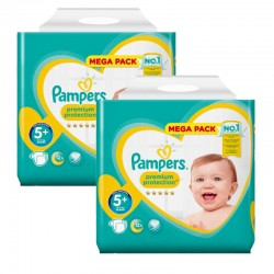 Maxi Pack 270 Couches Pampers New Baby - Premium Protection taille 5+ sur 123 Couches