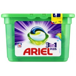 Ariel Pods 16 Colour & Style 3in1 (432 gr)