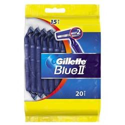 Gillette BlueII Rasoirs Jetables 20 pc. sur 123 Couches