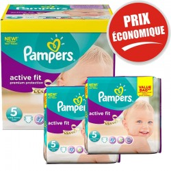 Giga Pack 376 Couches Pampers Active Fit taille 5 sur 123 Couches