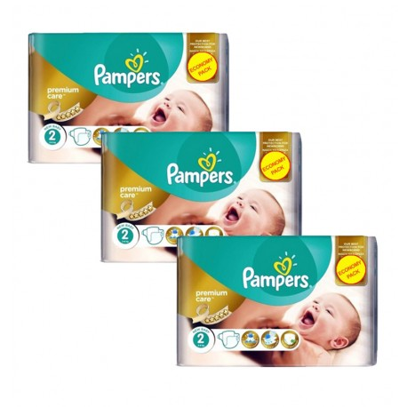 Giga Pack 190 Couches Pampers New Baby - Premium Care taille 2 sur 123 Couches