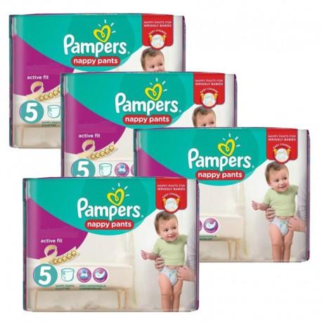 Maxi Pack 330 Couches Pampers Active Fit taille 5 sur 123 Couches