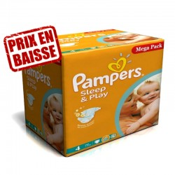 Maxi Pack 216 Couches Pampers Sleep & Play taille 4 sur 123 Couches