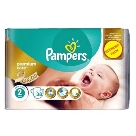 Pack 38 Couches Pampers New Baby Premium Care taille 2 sur 123 Couches