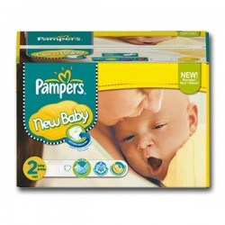 Maxi Pack 310 Couches Pampers de la gamme New Baby taille 2 sur 123 Couches