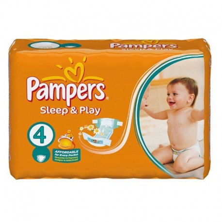 Pack 36 Couches Pampers Sleep & Play taille 4 sur 123 Couches