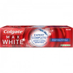 Dentifrice Colgate Max White Expert Complete Mild Mint sur 123 Couches