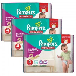 Maxi Giga Pack 128 Couches Pampers Active Fit - Pants taille 4