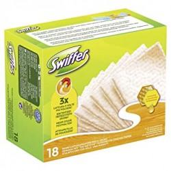 Swiffer Dry 18 Lingettes Attrape-Poussiere Bois & Parquet sur 123 Couches