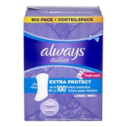 52 Protèges-Slips Always Extra Protect taille Large sur 123 Couches