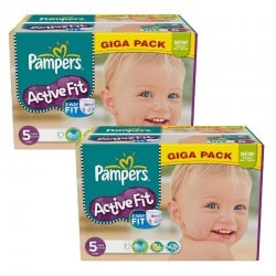 Maxi Giga Pack 235 Couches Pampers Active Fit taille 5 sur 123 Couches