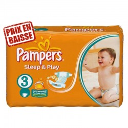 83 Couches Pampers Sleep & Play taille 3 sur 123 Couches