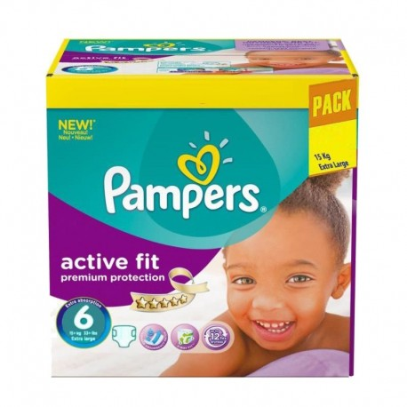 Pack 120 Couches Pampers Active Fit - Premiun Protection taille 6 sur 123 Couches