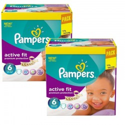 Maxi Pack 240 Couches Pampers Active Fit - Premiun Protection taille 6