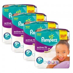 Giga Pack 128 Couches Pampers Active Fit Premium Protection