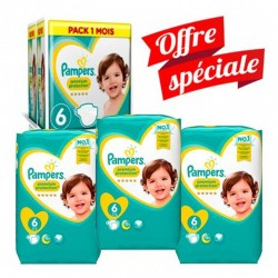 Maxi Giga Pack 168 Couches Pampers New Baby - Premium Protection taille 6 sur 123 Couches