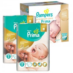 Maxi Giga Pack 242 Couches Pampers Premium Care Prima