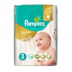 Pack 20 Couches Pampers Premium Care Prima taille 3 sur 123 Couches