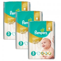 Giga Pack 180 Couches Pampers Premium Care Prima