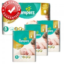 Giga Pack 180 Couches Pampers Premium Care Prima Taille 5 Junior (11-25 kg) sur 123 Couches