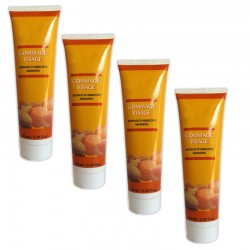 Lot de 4 Crèmes gommage visage aux Noyaux d'abricots & Amandes 150 ml sur 123 Couches