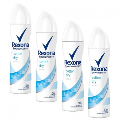 Lot 4 Deodorants Rexona Motion Sense Cotton Dry sur 123 Couches