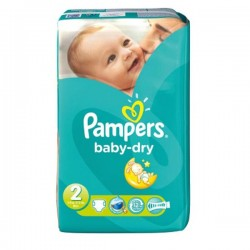 Pack 41 Couches Pampers Baby Dry taille 2 sur 123 Couches