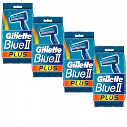 Lot de 4 Packs Gillette Blue3 Rasoirs Jetables 3 pièces