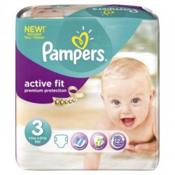 Pack 168 Couches Pampers Active Fit taille 3 sur 123 Couches