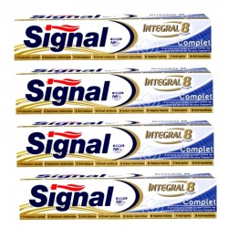 Lot 4 Dentifrices Signal Integral 8 Complet