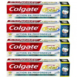 Lot 4 Dentifrices Colgate Total Action en Profondeur
