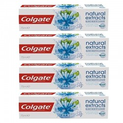 Lot 4 Dentifrices Colgate Natural Extracts Blancheur Eclatante sur 123 Couches