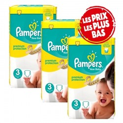 Giga Pack 200 Couches Pampers New Baby - Premium Protection taille 3 sur 123 Couches
