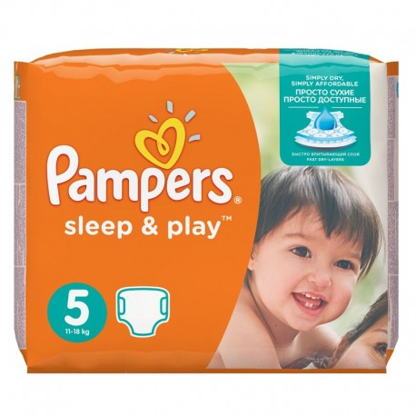 Pack 58 Couches Pampers Sleep & Play taille 5 sur 123 Couches