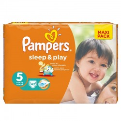 Pack 42 Couches Pampers Sleep & Play taille 5 sur 123 Couches