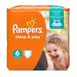 Pack 30 Couches Pampers Sleep & Play taille 6